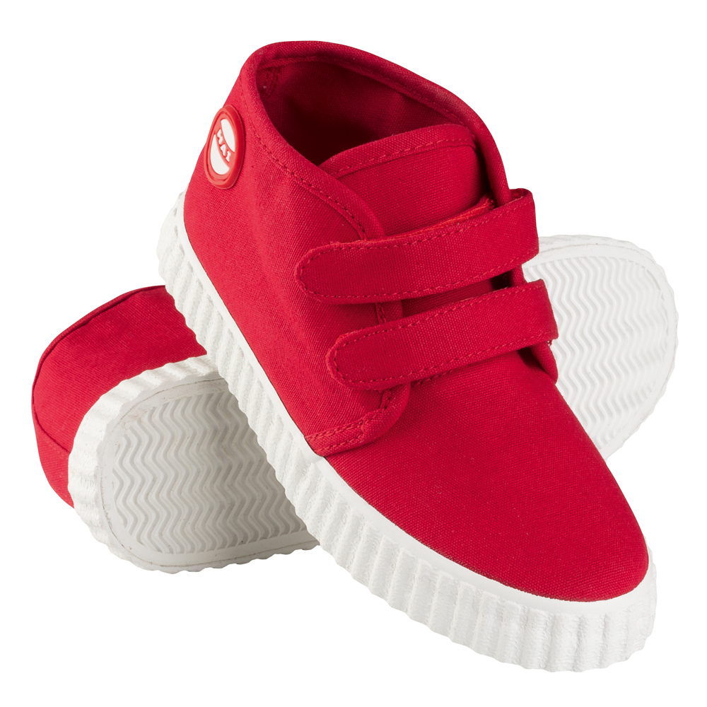 Nokian Footwear Hai Canvas Kids Velcro trainer - Red 3