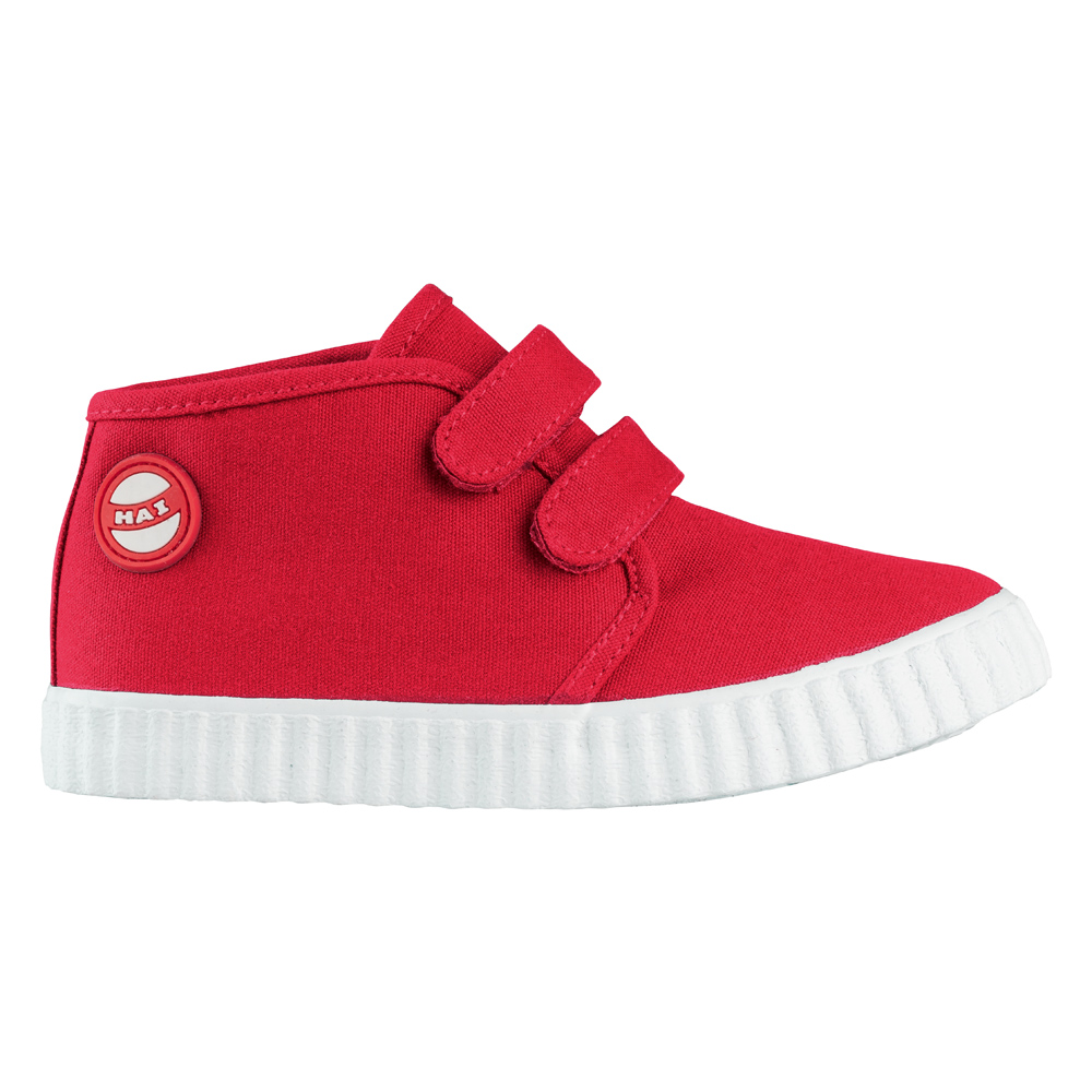 Nokian Footwear Hai Canvas Kids Velcro trainer - Red 2