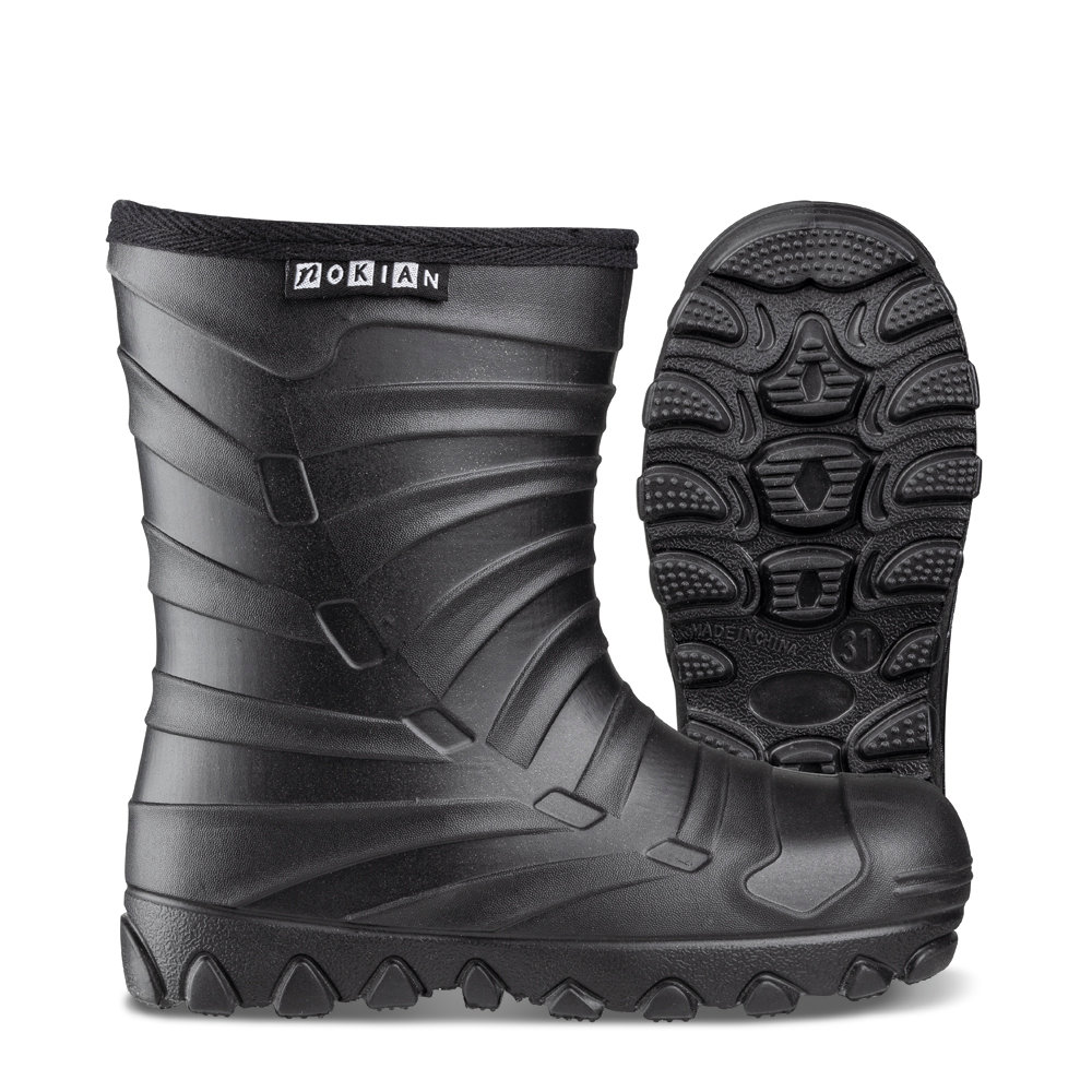 Nokian Footwear Winter Light Kids rubber boots for children - Black