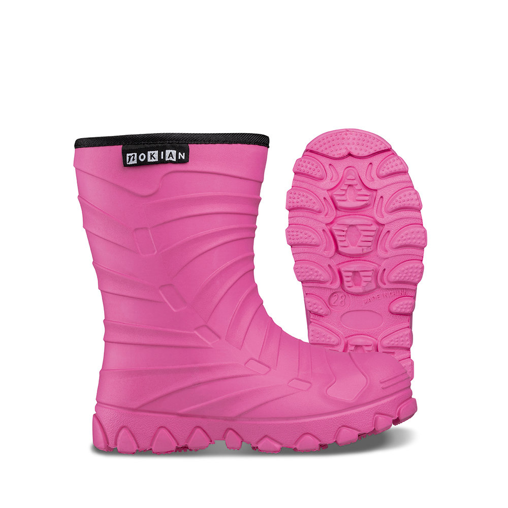 Nokian Footwear Winter Light Kids rubber boots for children - Pink
