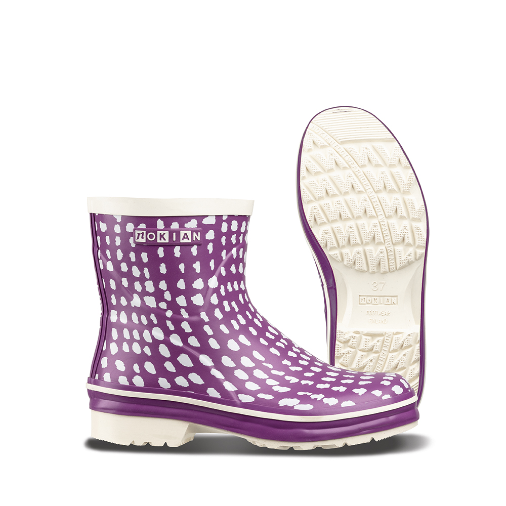 Nokian Footwear Nanso Low Hippu rubber boots for ladies - Purppura