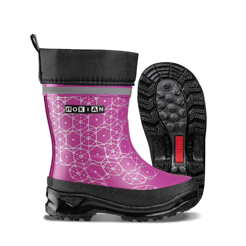 Nokian Footwear Wintry Plus Print rubber boot for children - Pink
